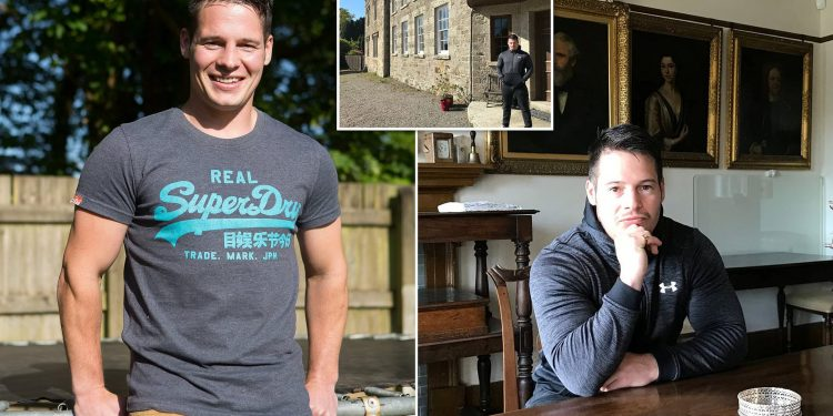 Penniless care worker, 31, inherits one of Britain's finest National Trust stately homes