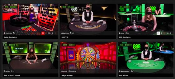 -Enjoying live gambling.