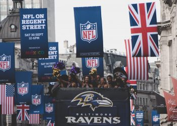 The Baltimore Ravens are just one of the NFL franchises who have been roped into trying to win over the British public with their on-field skills and cheerleader squads